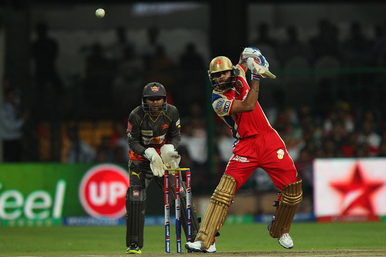 Virat Kohli during match 9 of of the Pepsi Indian Premier League between The Royal Challengers Bangalore and The Sunrisers Hyderabad held at the M. Chinnaswamy Stadium, Bengaluru on the 9th April 2013. (BCCI)