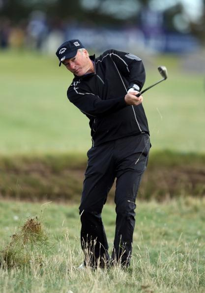 CARNOUSTIE, SCOTLAND - OCTOBER 05:  Former cricketer Steve Waugh of Australia in action during the second round of the Alfred Dunhill Links Championship on The Championship Links at Carnoustie on October 5, 2012 in Carnoustie, Scotland.  (Photo by Richard Heathcote/Getty Images)