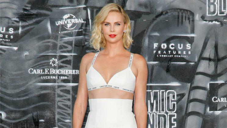 8dba8bb8d1 Charlize Theron is firmly onboard with the lingerie trend  Photo  Getty