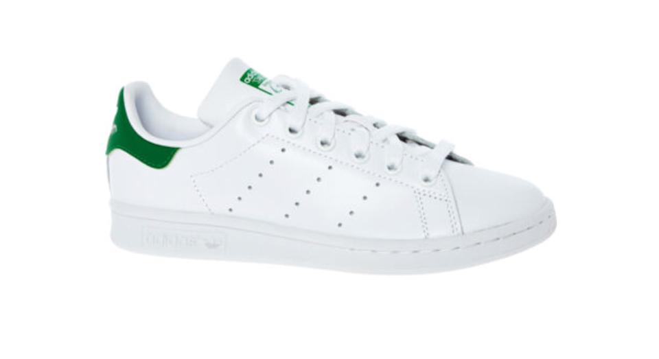 ADIDAS White Perforated Leather Trainers
