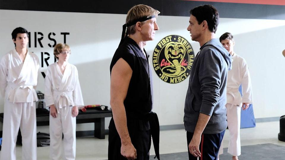 Johnny and Daniel face off in Cobra Kai, now on Netflix!