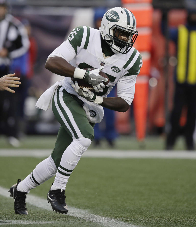 8c14e1563eb Can the Jets' Elijah McGuire pick up where Bilal Powell left off? Yahoo  Fanalyst Liz Loza likes his chances of producing in Week 9. (AP  Photo/Charles Krupa)