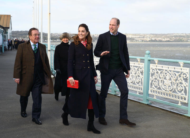 Prince William and Kate Middleton on Mumbles pier
