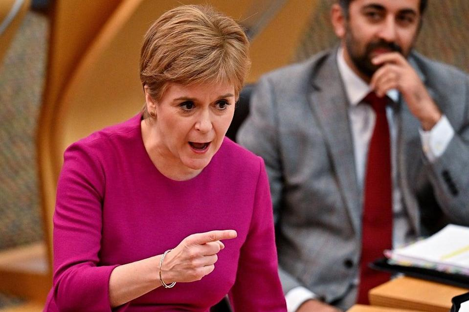 First Minister Nicola Sturgeon insisted the controversial coronavirus vaccine passport scheme was not being delayed (Jeff J Mitchell/PA)