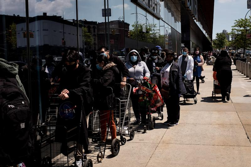 People facing financial stress waiting for food donations in Brooklyn: EPA