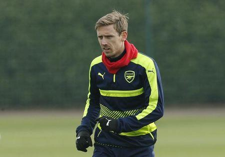 Arsenal's Nacho Monreal during training