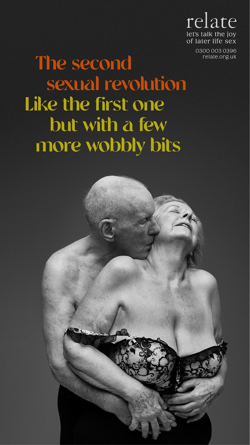 The 'Let's talk the joy of later life sex' campaign aims to break down the taboo surrounding intimacy in your later years. (Rankin/Relate)