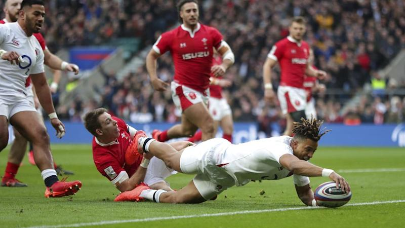 Anthony Watson has scored as England beat Wales 33-30 at Twickenham in the European Six Nations