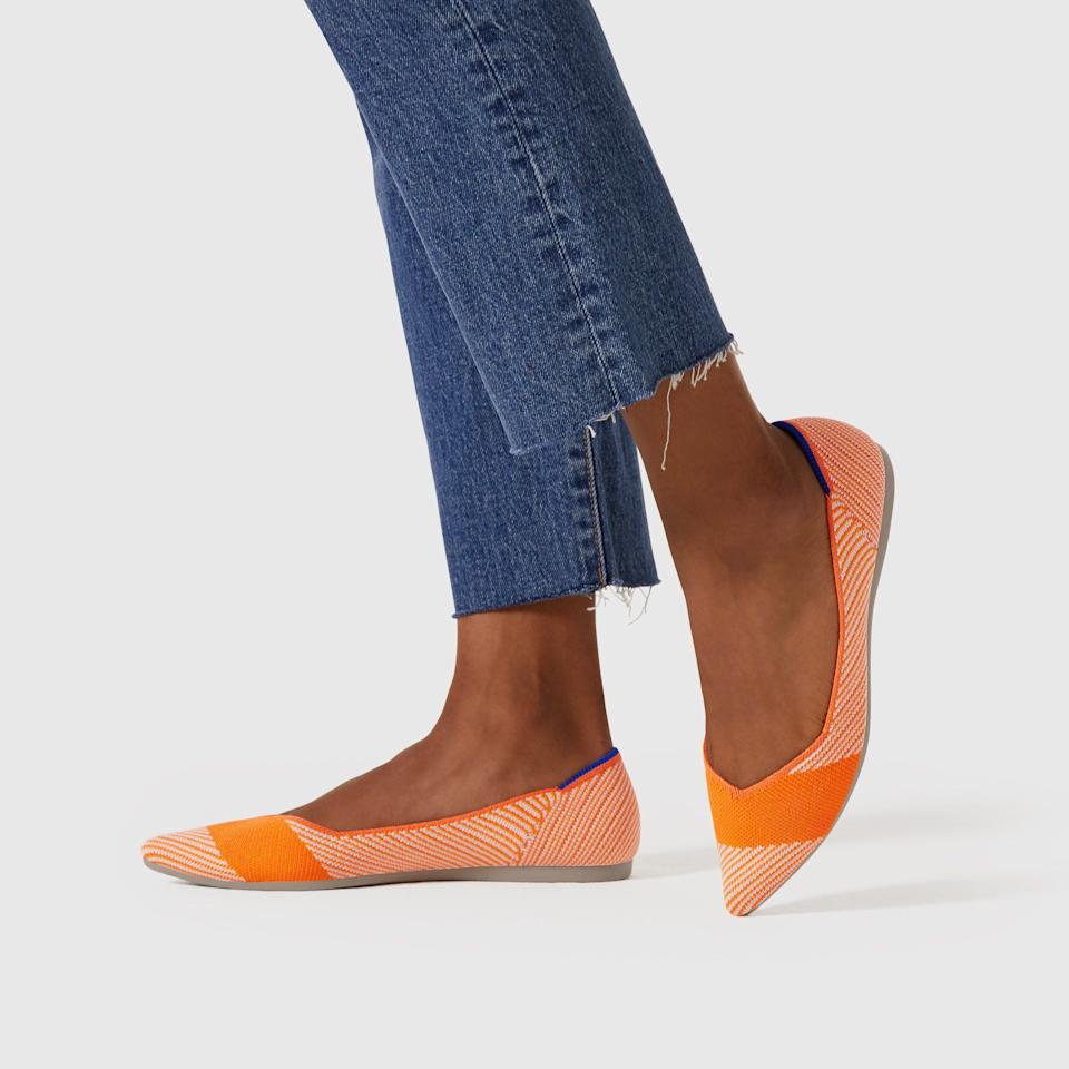 """<p><strong></strong></p><p>rothys.com</p><p><strong>$20.00</strong></p><p><a href=""""https://go.redirectingat.com?id=74968X1596630&url=https%3A%2F%2Frothys.com%2Fwomens%2Fflats%2Fpointed-toe-flats&sref=http%3A%2F%2Fwww.cosmopolitan.com%2Fstyle-beauty%2Ffashion%2Fg28281273%2Fbest-shoe-brands%2F"""" target=""""_blank"""">Shop Now</a></p><p>This brand makes their cute, colorful flats from recycled water bottles originally intended for landfills.</p>"""