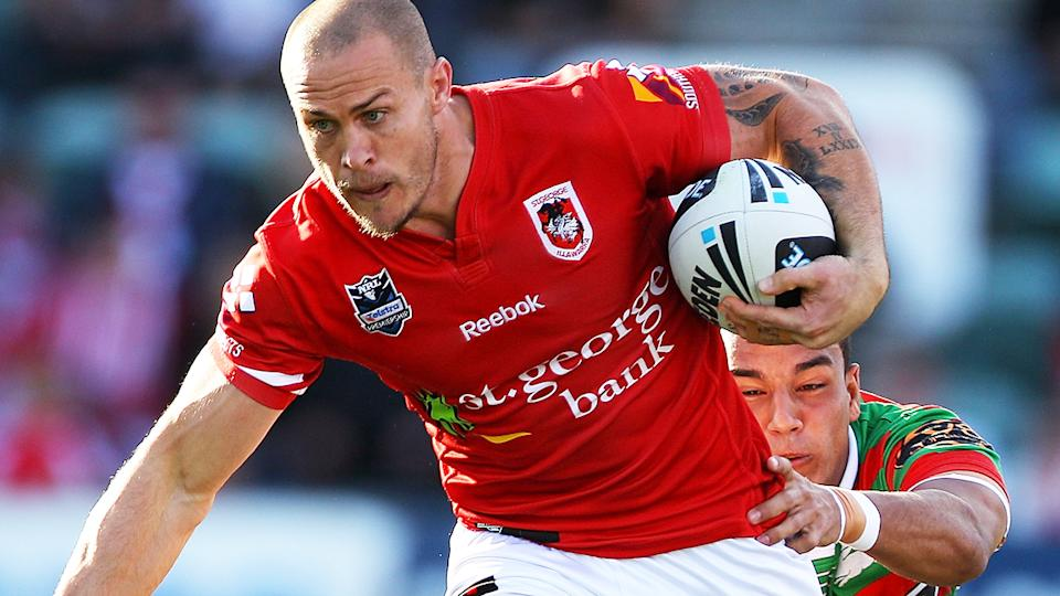 Matt Cooper, pictured here in action for the St George Illawarra Dragons in 2011.