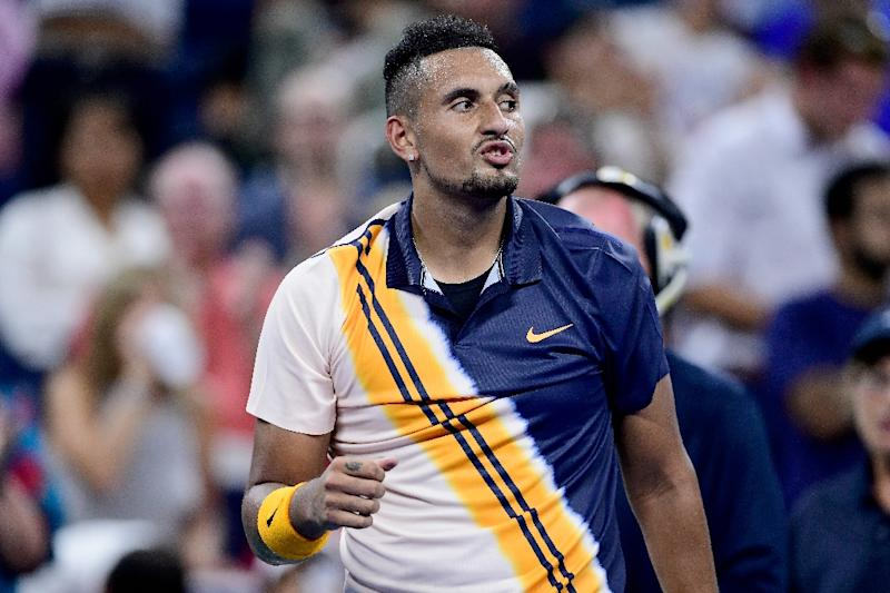 Nick Kyrgios into US Open third round after umpire intervention