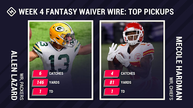 Fantasy Waiver Wire Week 4: Allen Lazard, Mecole Hardman among top free agent pickups after prime-time breakouts