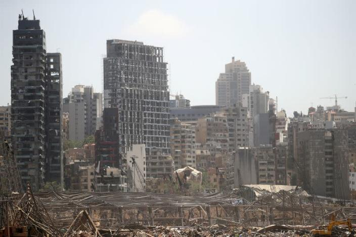 FILE PHOTO: Aftermath of blast in Beirut's port area