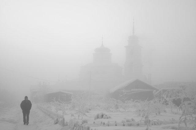 Yakutsk. Church. -51 With.