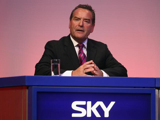 Jeff Stelling has presented Sky's Saturday results programme since 1994: Getty