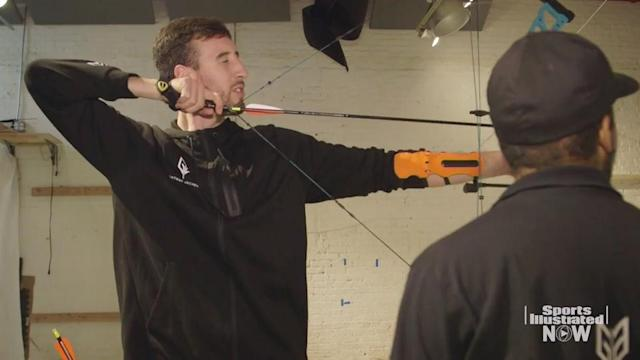 Charlotte Hornets forward Frank Kaminsky has a long basketball career ahead of him, but he also has a future in ax throwing. SI tagged along with Kaminsky during a visit to Gotham Archery, where the forward learned to shoot arrows and more.