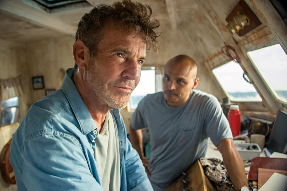 """Dennis Quaid as Captain Wade and Jimmy Gonzales as Omar in a scene from """"Blue Miracle."""""""