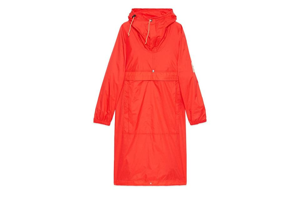 """$1800, Gucci. <a href=""""https://www.gucci.com/us/en/pr/men/ready-to-wear-for-men/outerwear-for-men/quilted-jackets-for-men/online-exclusive-the-north-face-x-gucci-cagoule-p-648874ZLW4E6562"""" rel=""""nofollow noopener"""" target=""""_blank"""" data-ylk=""""slk:Get it now!"""" class=""""link rapid-noclick-resp"""">Get it now!</a>"""