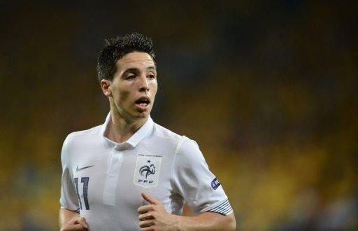 France's Samir Nasri lost his cool after the defeat against Spain