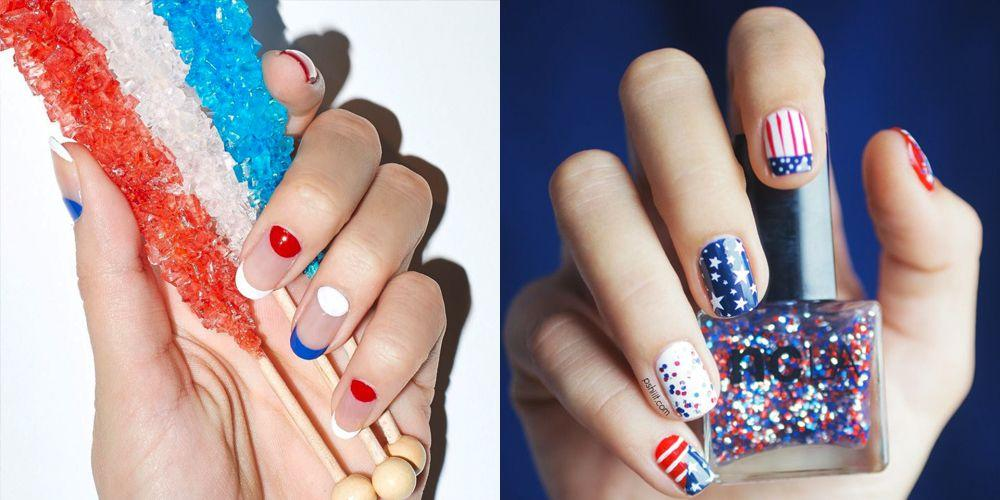 "<p>Upgrade your <a href=""https://www.goodhousekeeping.com/4th-of-july-ideas/"" target=""_blank"">Independence Day</a> beyond the fireworks and barbecues by rocking patriotic <a href=""https://www.goodhousekeeping.com/beauty/nails/g2538/summer-nail-art-ideas/"" target=""_blank"">nail art this summer</a> in red, white, and blue. Get inspired by the images below and show off your American pride with fun nail designs, ranging from subtle stripes and simple stars to full-blown tie-dye tips and glitter galore! Want to take your holiday spirit up a notch? Don't forget to check out our  <a href=""https://www.goodhousekeeping.com/holidays/g2229/fourth-of-july-decorations/"" target=""_blank"">4th of July decoration ideas</a> to really get into the spirit. </p>"
