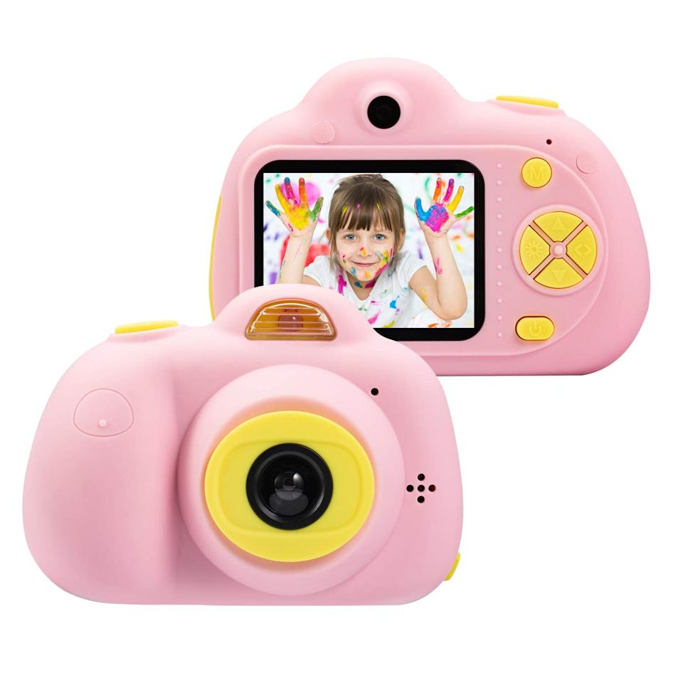 """<p>The <a href=""""https://www.popsugar.com/buy/Omzer-Kids-Camera-460777?p_name=Omzer%20Kids%20Camera&retailer=amazon.com&pid=460777&price=39&evar1=moms%3Aus&evar9=46285065&evar98=https%3A%2F%2Fwww.popsugar.com%2Fphoto-gallery%2F46285065%2Fimage%2F46285520%2FOmzer-Kids-Camera&list1=shopping%2Ctoys&prop13=api&pdata=1"""" rel=""""nofollow"""" data-shoppable-link=""""1"""" target=""""_blank"""" class=""""ga-track"""" data-ga-category=""""Related"""" data-ga-label=""""https://www.amazon.com/omzer-Kids-Camera-Gifts-Shockproof/dp/B07KQS13FN/ref=sr_1_10?crid=1C2QY7MHQ3HF7&amp;keywords=gifts+for+5+year+olds&amp;qid=1560887971&amp;s=gateway&amp;sprefix=gifts+for+5%2Caps%2C127&amp;sr=8-10"""" data-ga-action=""""In-Line Links"""">Omzer Kids Camera</a> ($39) has got it all! With video capabilities, selfie mode, and high resolution, kids will be able to capture every special moment.</p>"""