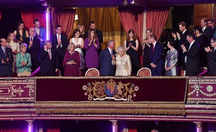 The immediate line of succession to the throne includes Queen Elizabeth II's four children and their descendants (AFP Photo/John Stillwell)