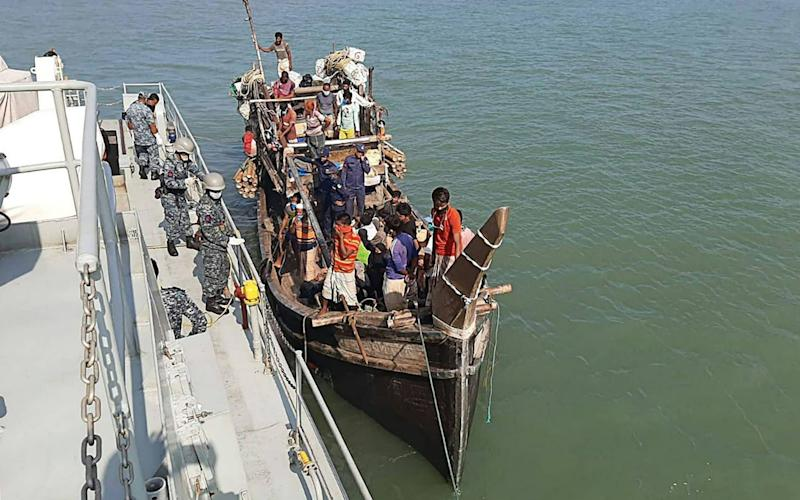 Dozens of Rohingya have been stranded at sea for weeks as they desperately tried to reach Malaysia - STR/AFP