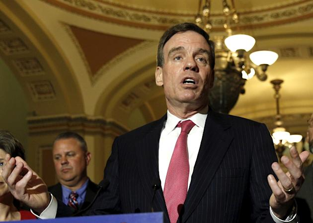 U.S. Senator Mark Warner (D-VA) speaks at a news conference in the U.S. Capitol in Washington, in this May 19, 2015 file photo. REUTERS/Kevin Lamarque/Files