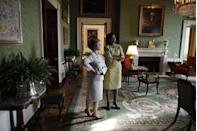 """<p>After a new president is elected, the outgoing first lady welcomes the first lady-to-be to the White House with a tour. But <a href=""""https://www.washingtonpost.com/lifestyle/style/when-first-ladies-meet-an-awkward-post-election-white-house-tradition/2016/04/06/5d8a60be-f6b6-11e5-9804-537defcc3cf6_story.html"""" rel=""""nofollow noopener"""" target=""""_blank"""" data-ylk=""""slk:these meetings are reportedly tense"""" class=""""link rapid-noclick-resp"""">these meetings are reportedly tense</a> in many cases. """"The stress that any of us endure during a big move can be heightened by political tensions, generational divides and the glare of the spotlight,"""" Kate Andersen Brower, author of <em><a href=""""https://www.amazon.com/First-Women-Americas-Modern-Ladies/dp/0062439669/"""" rel=""""nofollow noopener"""" target=""""_blank"""" data-ylk=""""slk:First Women: The Grace and Power of America's Modern First Ladies"""" class=""""link rapid-noclick-resp"""">First Women: The Grace and Power of America's Modern First Ladies</a>, </em>wrote.</p>"""
