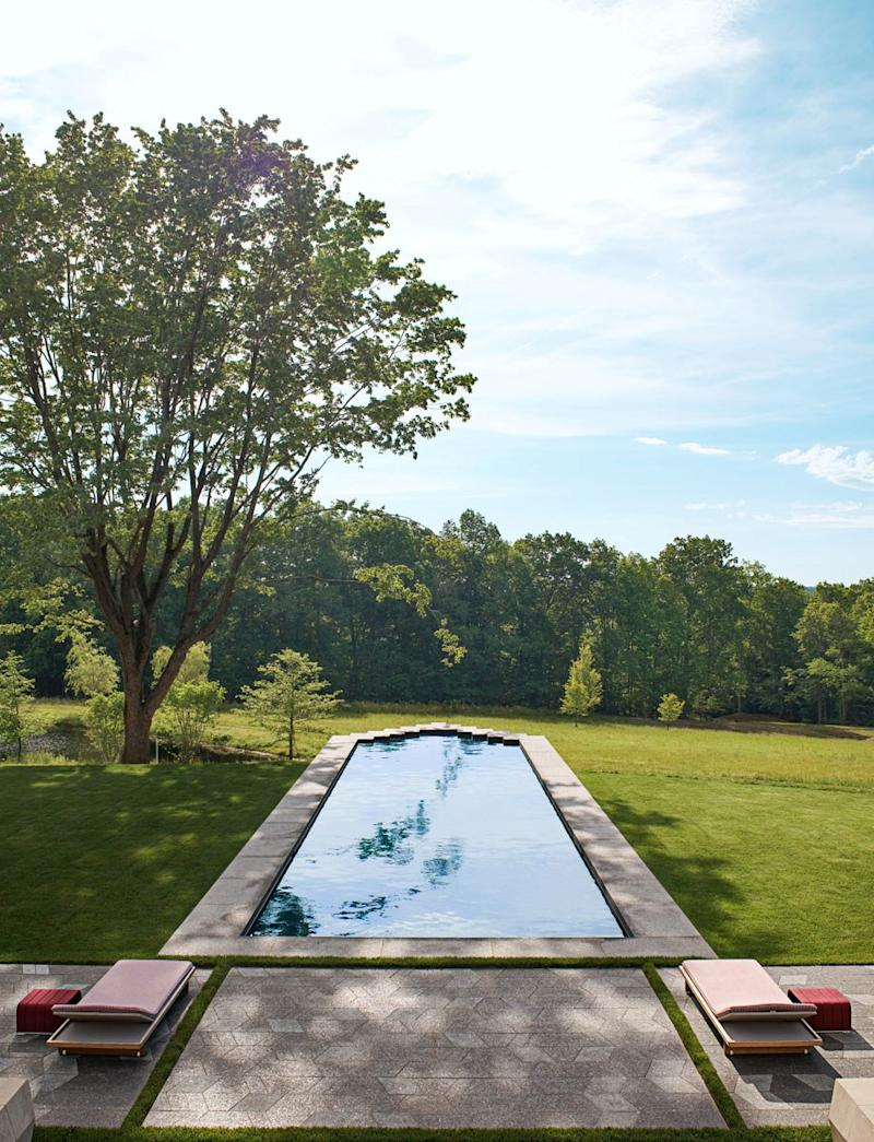 The pool of a house in Ohio by architect Peter Pennoyer.