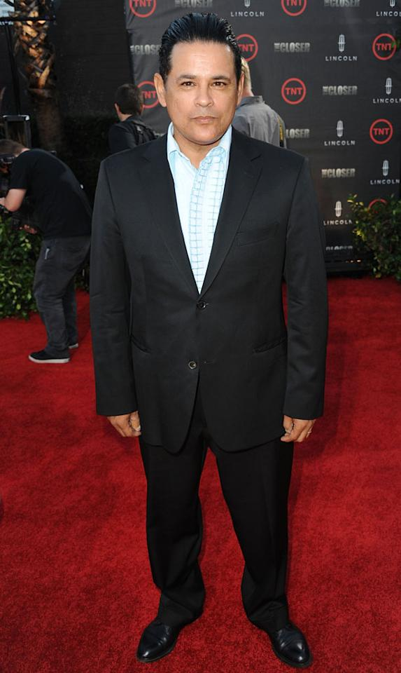 """Raymond Cruz attends the special fan screening of TNT's """"The Closer"""" series finale held at The Roosevelt Hotel on August 7, 2012 in Hollywood, California."""