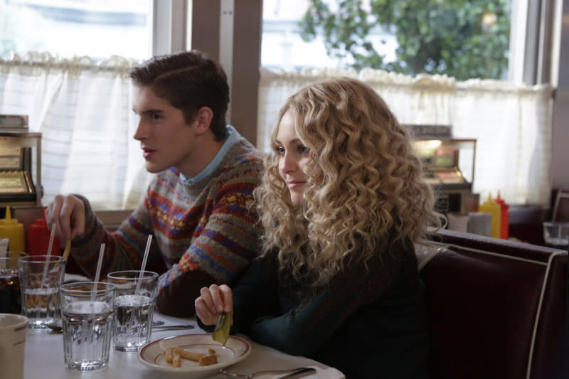 """Fright Night"" -- Brendan Dolling as Walt and AnnaSophia Robb as Carrie"