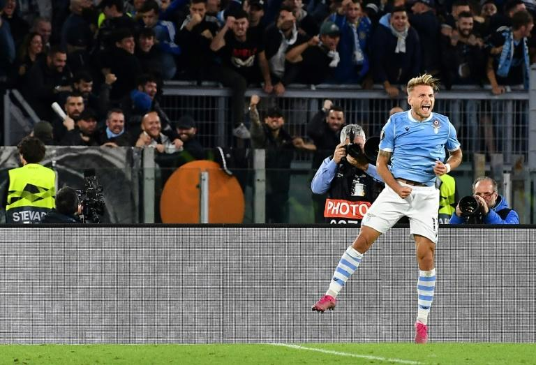 Immobile is the top Serie A scorer this season with nine goals (AFP Photo/Tiziana FABI)