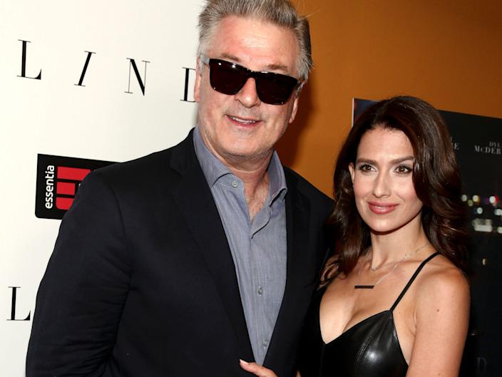 """Hilaria and Alec Baldwin at the NYC premiere of """"Blind"""" in 2017 AP"""