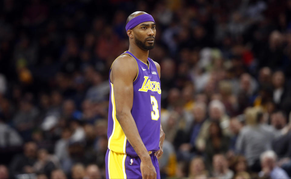 Corey Brewer played 54 games with the Lakers this season. (AP)