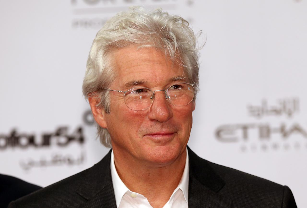 ABU DHABI, UNITED ARAB EMIRATES - OCTOBER 11:  Actor Richard Gere attends day one of the Abu Dhabi Film Festival for the Premiere of his film Arbitage on 2012 at Emirates Palace on October 11, 2012 in Abu Dhabi, United Arab Emirates.  (Photo by Chris Jackson/Getty Images)