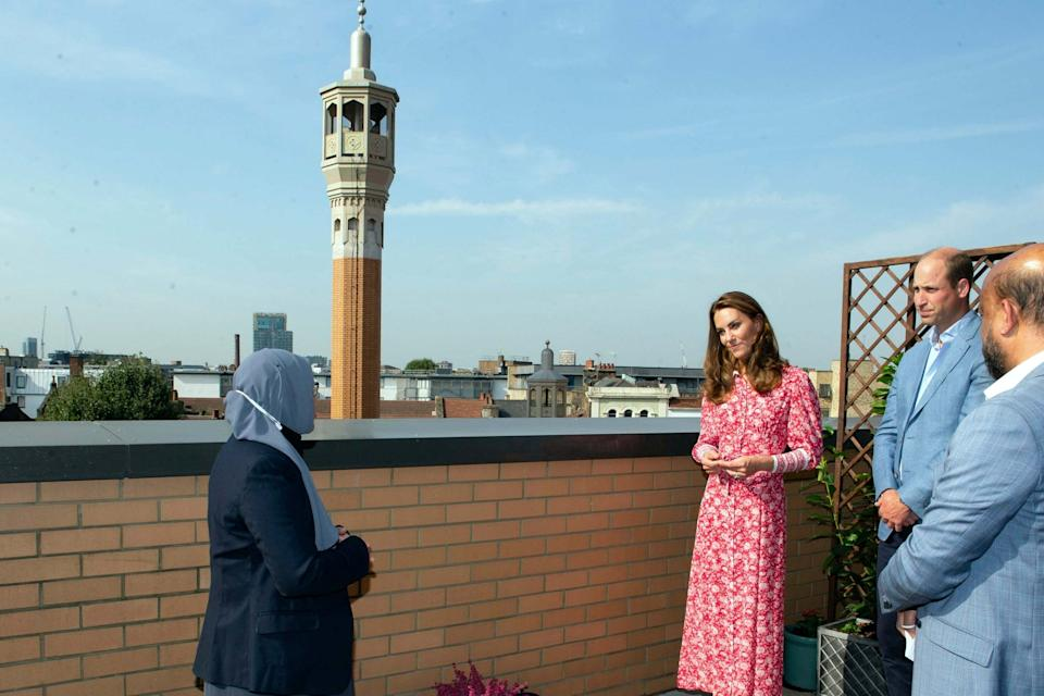 Prince William and Kate, Duchess of Cambridge visit the East London Mosque (AP)