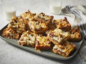 """<p><strong>Recipe: <a href=""""https://www.southernliving.com/recipes/magic-cookie-bars"""" rel=""""nofollow noopener"""" target=""""_blank"""" data-ylk=""""slk:Magic Cookie Bars"""" class=""""link rapid-noclick-resp"""">Magic Cookie Bars</a></strong></p> <p>Recognize these sweet treats? They've been making an appearance at family gatherings for years, and the sweet butterscotch adds the perfect touch.</p>"""