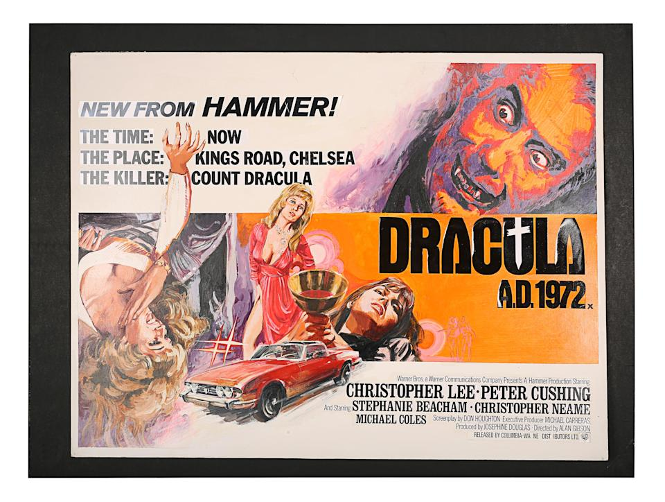 Hammer's <i>Dracula A.D. 1972</i> brought the gothic monster into the 20th century. (Prop Store)