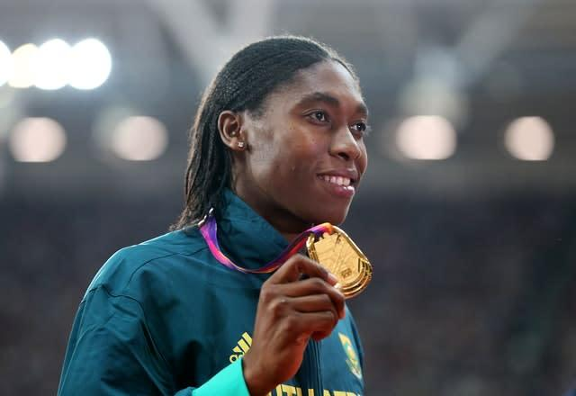 Caster Semenya won her third world title in London in 2017 (Jonathan Brady/PA).