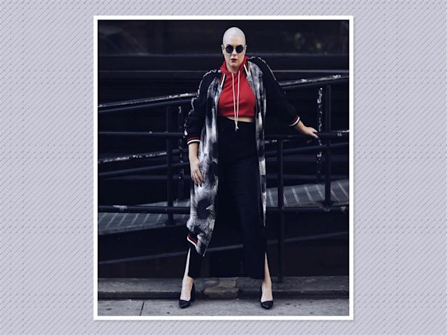 "<p>Bombers have made their impact all year and now are going long-line for fall. Try one over a cropped hoodie and jogger combo like <a href=""https://www.instagram.com/p/BZ4K_yon6Rw/?hl=en&taken-by=lydiahudgens"" rel=""nofollow noopener"" target=""_blank"" data-ylk=""slk:Lydia Hudgens"" class=""link rapid-noclick-resp"">Lydia Hudgens</a>'s version or wear one over a body-con dress and sneakers. (Photo: Lydia Hudgens) </p>"
