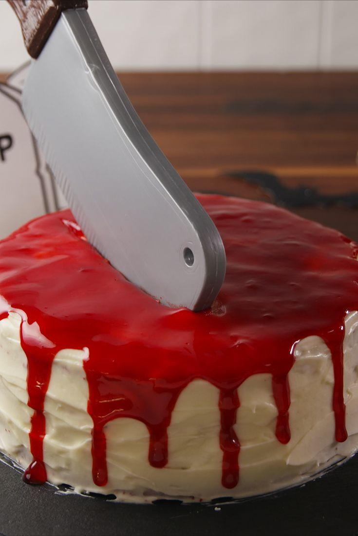 """<p>Every Halloween party needs this bloody good cake.</p><p>Get the recipe from <a href=""""https://www.delish.com/cooking/recipe-ideas/recipes/a55554/dead-velvet-cake-recipe/"""" rel=""""nofollow noopener"""" target=""""_blank"""" data-ylk=""""slk:Delish"""" class=""""link rapid-noclick-resp"""">Delish</a>. </p>"""
