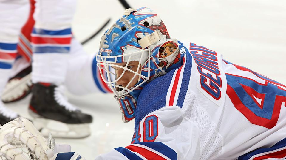 The New York Rangers are caught with a trio of goaltenders. (Photo by Gerry Thomas/NHLI via Getty Images)