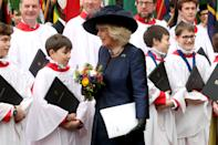 LONDON, ENGLAND - MARCH 09: Camilla, Duchess of Cornwall departs the Commonwealth Day Service 2020 at Westminster Abbey on March 09, 2020 in London, England. The Commonwealth represents 2.4 billion people and 54 countries, working in collaboration towards shared economic, environmental, social and democratic goals. (Photo by Chris Jackson/Getty Images)
