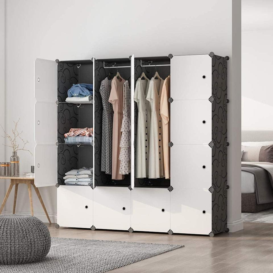 <p>If you rent and want to avoid installing a bulky system, the <span>Maginels Portable Wardrobe Closet</span> ($83) is easy to break down and take with you when needed.</p>