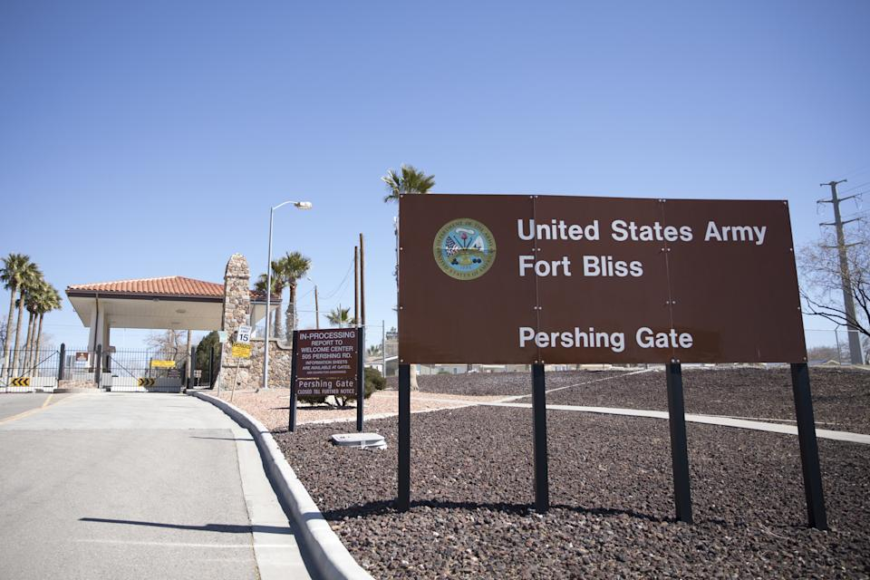 The U.S. Army Fort Bliss base stands in El Paso, Texas, U.S., on Tuesday, Feb. 12, 2019. (Adria Malcolm/Bloomberg via Getty Images)