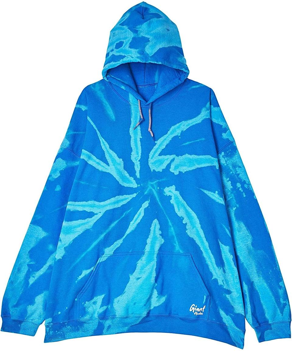 <p>The <span>Giant Hoodies Bleach Dye Oversize Giant Hoodie</span> ($60) adds a pop of color to your stay-at-home loungewear.</p>