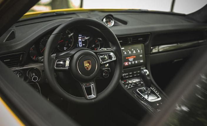 <p>To ensure stopping power commensurate with its accelerative capabilities, Porsche fits the Turbo S with its third-generation Porsche Ceramic Composite Brake (PCCB) system as standard (it's optional on the non-S Turbo).</p>