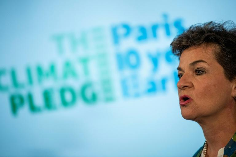 """Christiana Figueres, Former UN climate chief, joined Amazon founder and CEO Jeff Bezos in announcing a """"Climate Pledge"""" for companies promising reducing emissions to help advance the goals of the Paris climate accord"""