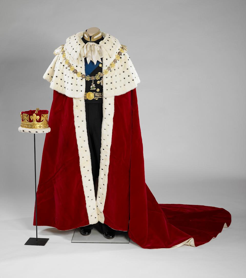 The Coronation robe worn by the Duke of Edinburgh at Queen ELizabeth II's Coronation in 1953, one of the items which will feature in Prince Philip: A Celebration (PA)
